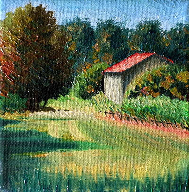 Pictura in ulei: structuri reliefate, lucioase, culori intense si vibrante, tranzitii fine intre nuante.